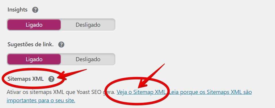 Acessando o Sitemap XML gerado pelo Yoast