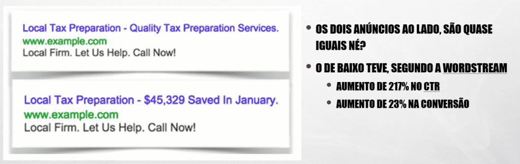 Anúncios do Google Ads com foco no Agora