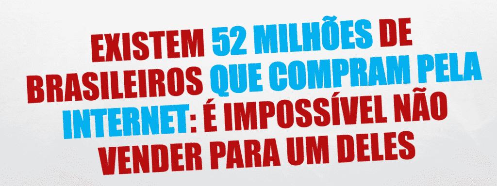 52 Milhões de Brasileiros compram ativamente pela Internet