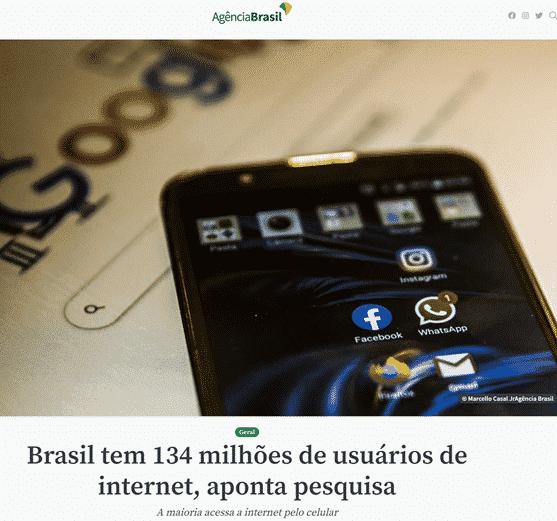 Número de Brasileiros na Internet