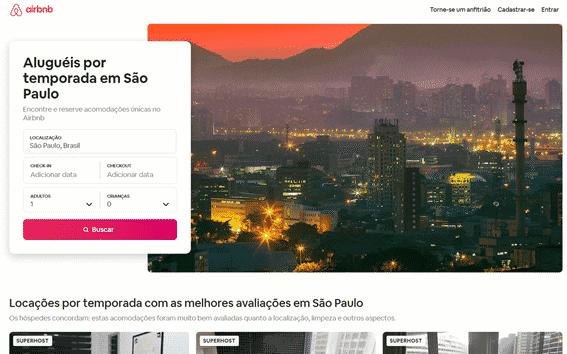 Página Modelo de SEO do Airbnb